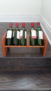 Napa Valley Wood Adjustable Wine Storage Rack Case Holder Shelf