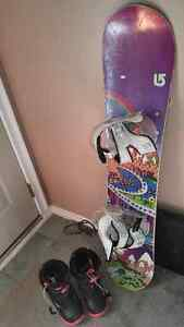 Girlsl/ladies snowboard and boots