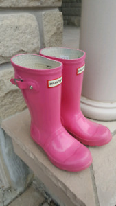 Girls Hunter Rain Boots with inserts