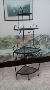 Wrought Iron Corner Unit
