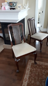 Two elegant Queen Anne style side chairs
