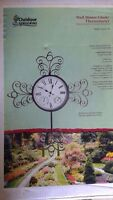 Beautiful outdoor clock & thermometer Brand new