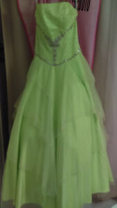 Prom dress - lime green- worn once