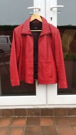 Red leather jacket woman's , LLD original