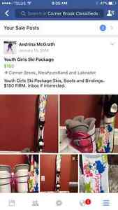 Youth Girls Ski Package
