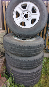 Set of tires from Jeep Wrangler