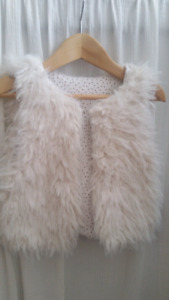 Toddler Girl's Zara Fur Vest -Excel. Cond. Size 1 -3 Years