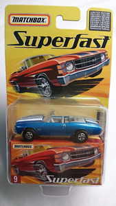 MATCHBOX SUPERFAST #9 CHEVY CHEVELLE SS CONVERTIBLE DIE CAST