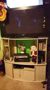 TV and stand 150 OBO  Cambridge Kitchener Area image 1