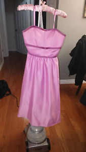Beautiful pink rose silk gown