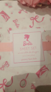 BRAND NEW POTTERY BARN Barbie Bed Sheets