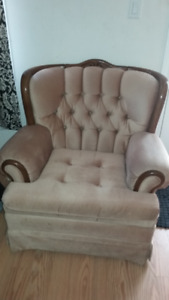 2 Piece couch - Beautiful Rose Light Brown