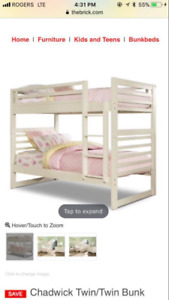 Chadwick Twin Bunk Bed Brand New in Box Sealed with New Matress