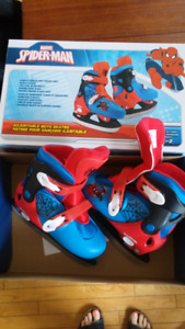 Spiderman ice skates... Adjustable y12 to 2