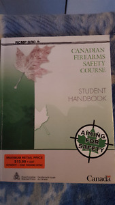 Canadian Firearms safety book for gun course