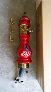 Brand new Molson Export ceramic draft beer tower