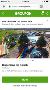 Ticket for bingeman big splash
