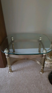 Solid Brass end table