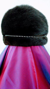 Womens mink hat