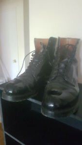 Men's Black Police Boots Size 12-12.5