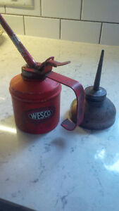 Two Vintage Oil Cans, Wesco, England Kitchener / Waterloo Kitchener Area image 1