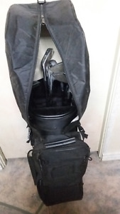 3-9 irons, 1-3-5 woods, putter, chipper in Amanati Sports bag,