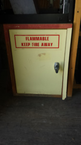 Cabinet flammable vintage