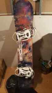 Endeavor Live 156 snowboard and 32 boots