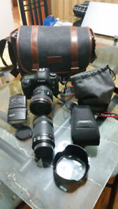 Canon camera EOS 5D Mark III and accessories