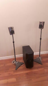 PHILLIPS SURROUND SOUND SPEAKERS AND SUB-WOOFER