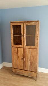 Solid Wood Display / Storage Cabinet