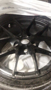 FAST WHEELS 16 INCH BLACK RIMS MAGS TIRES