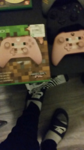limited edition minecraft pig skin controller for xbox one