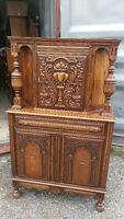 Antique Solid Oak Dining Room Cabinet