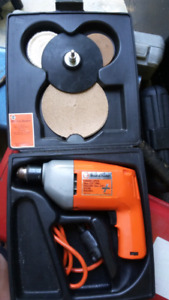 Black and Decker electric drill with buffing kit