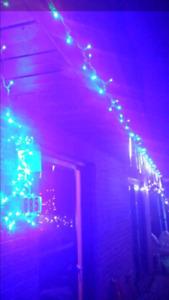 LED effet pluie et girlande bleu LED