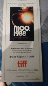 2 Tickets to Nico, 1988 at TIFF Light Box Aug 17-23