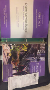 2 French university text books. Chez nous package