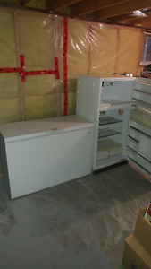 12 cu. ft. chest freezer and full size beer fridge.