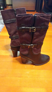 Nickels Brown/Mauve Mid-Length Boots