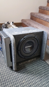 "10"" Pioneer Sub with Box and Amp!!"
