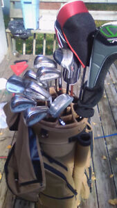 Golf clubs comes with bag