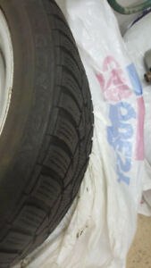 BMW winter tires and rims.  Size 225 45 R17