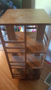 Lazy Susan style shelving unit
