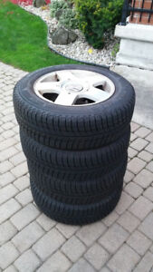 OEM VW Rims and snow tires. 195/65R 15.  $800.00