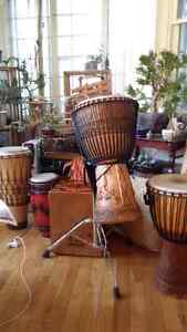 DJEMBE DRUM , Heavy Duty Stand and Carry Bag Cambridge Kitchener Area image 10