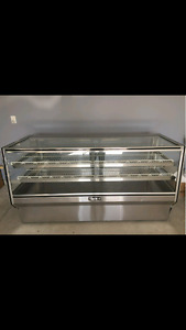 Leader 77 inch Dry Bakery Display Case- Counter Height