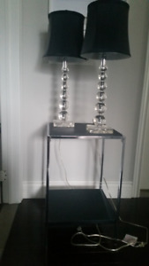 Crystal Globe Table Lamps