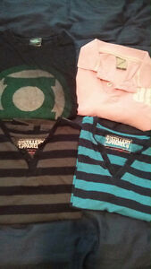 Shirts & shorts- Variety of Names - Size small & medium