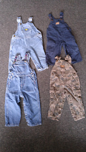 Boys size 18-24 months 4 pairs of overalls